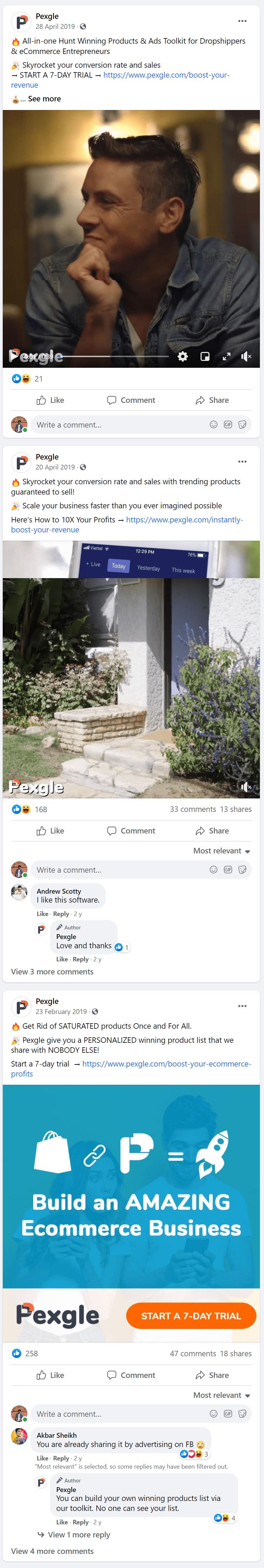 Pexgle-Facebook