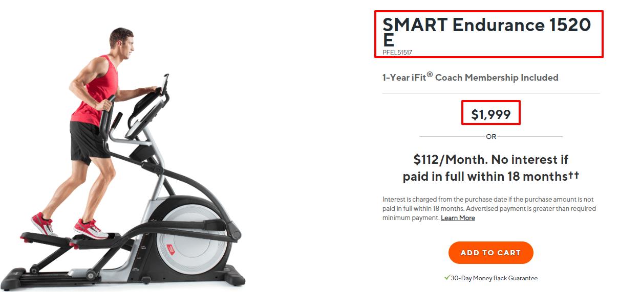 ProForm - SMART - Endurance - 1520 - E - Elliptical - ProForm