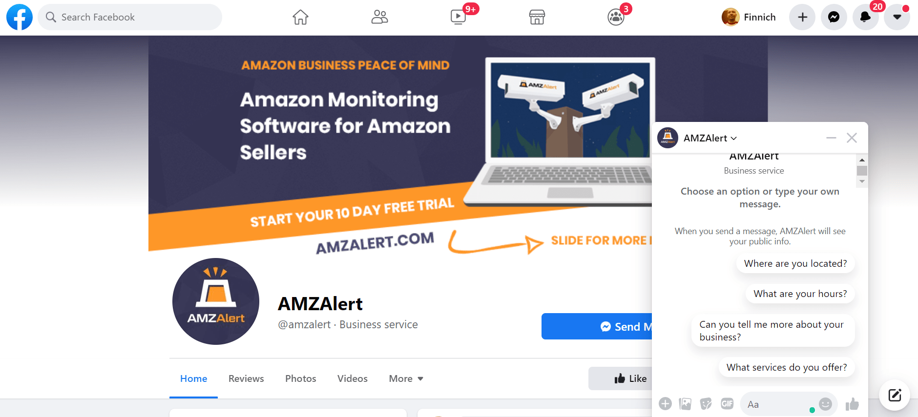 amz alert facebook