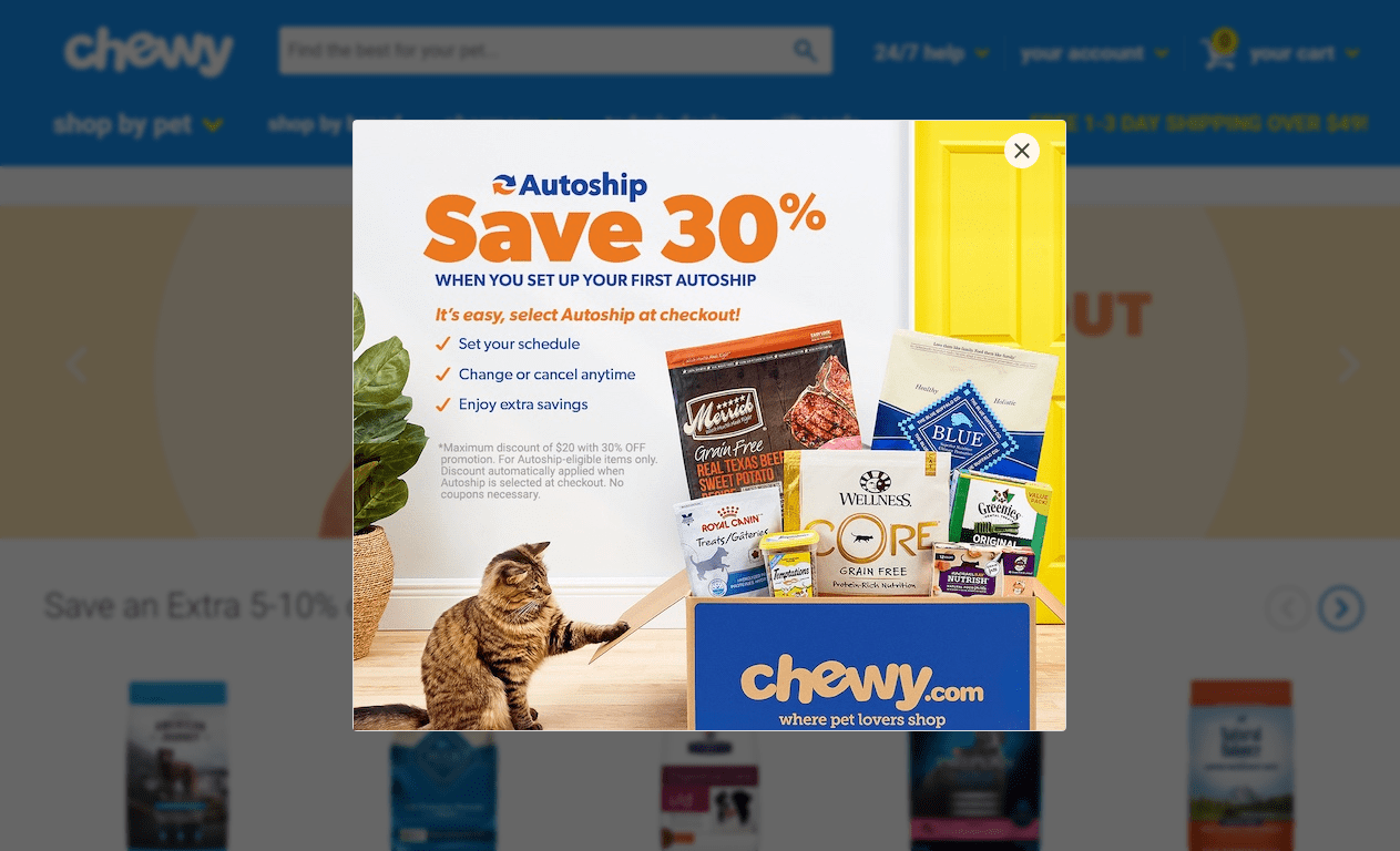 Chewy.com coupon -save upto 30%