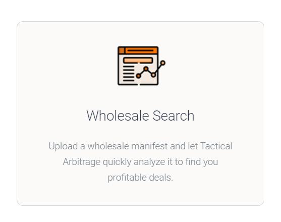 Tactical Arbitrage - Wholesalers