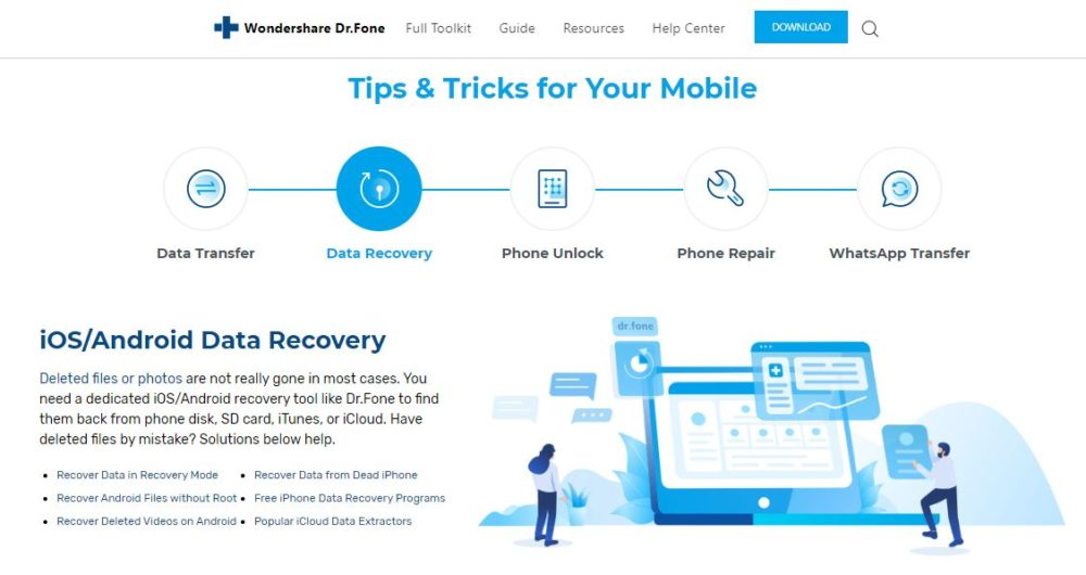 Dr. Fone iOS Data Recovery