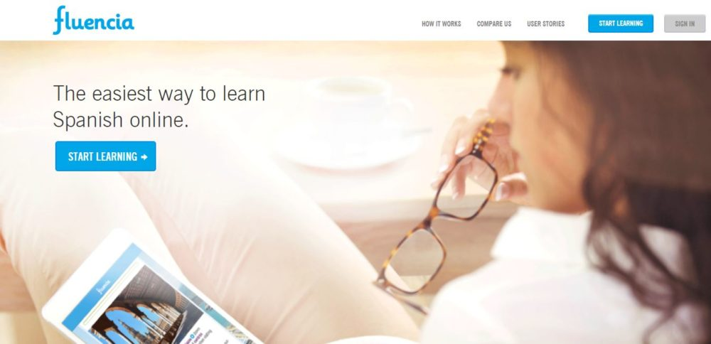 Fluencia Review Homepage