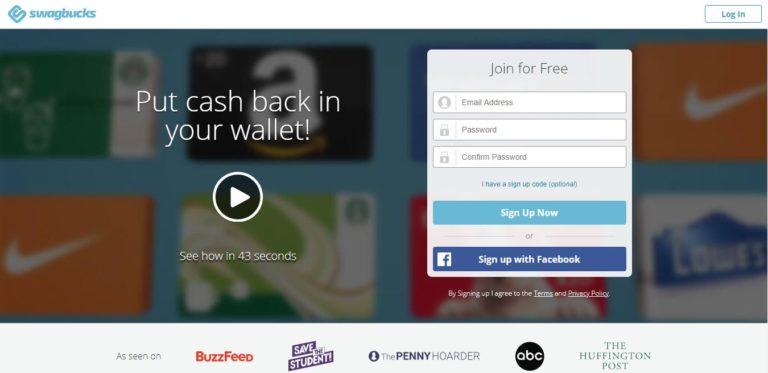 How To Earn Swagbucks Faster - Homepage