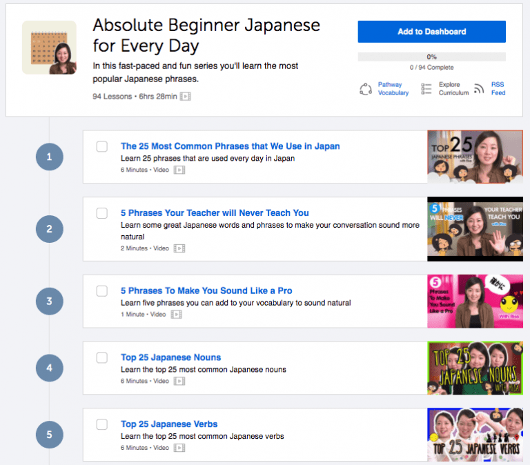 JapanesePod101 Review Lesson Materials