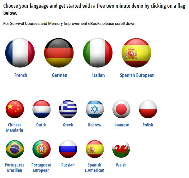 Linkword Languages Review Flags