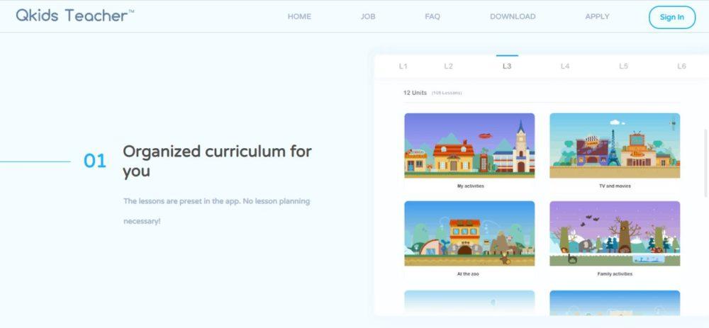 Organized Curriculum