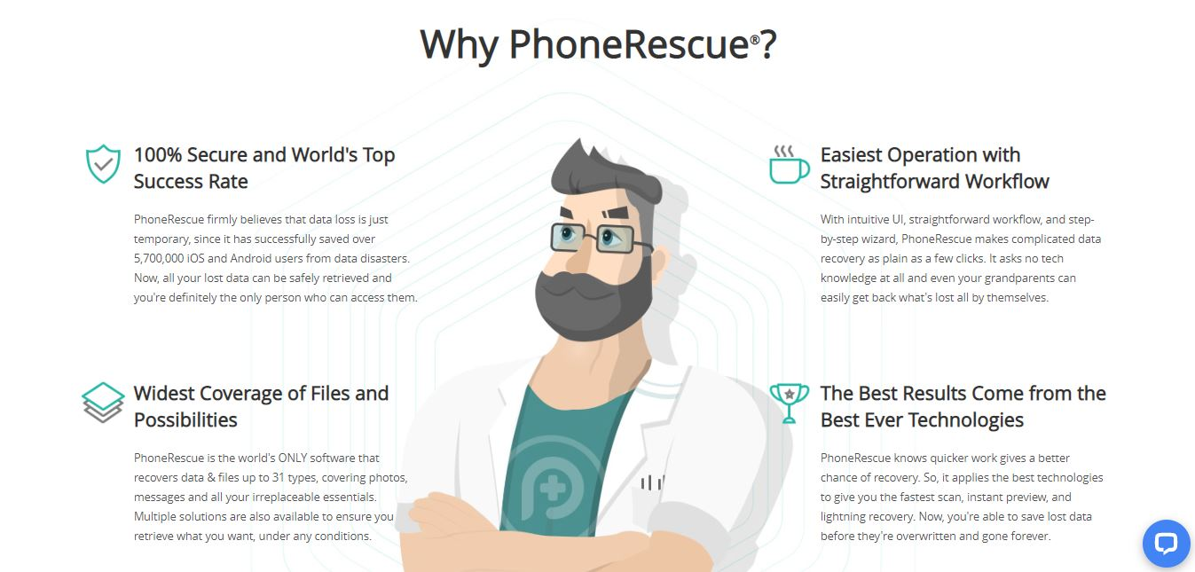PhoneRescue Features