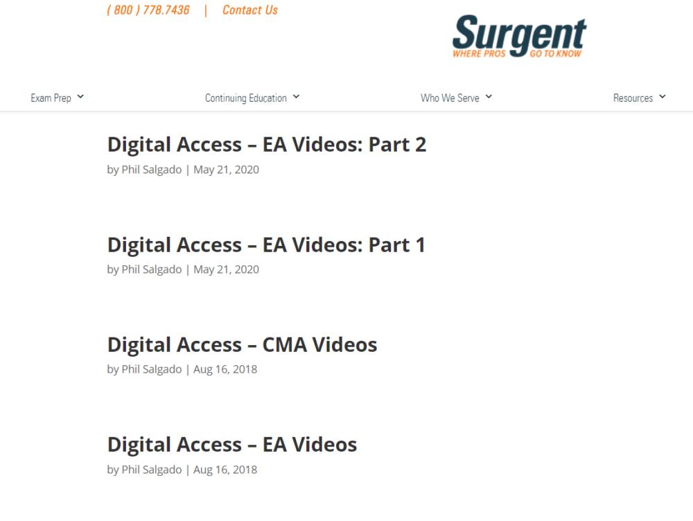 Surgent-Discount-codes-Video-Lectures