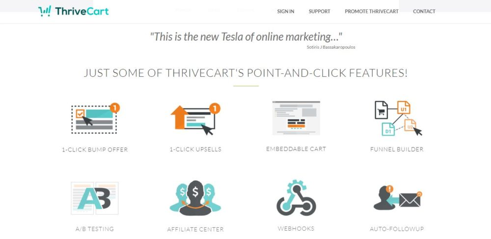 Thrivecart vs WooCommerce - Thrivecart Features