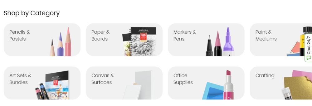 Arteza Coupon Codes- Arteza shop by categories