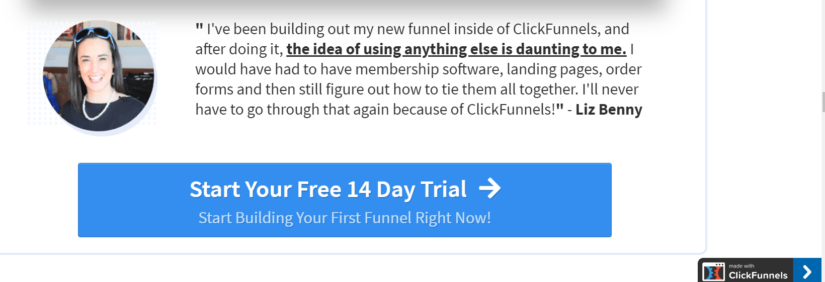 clickfunnel customer review