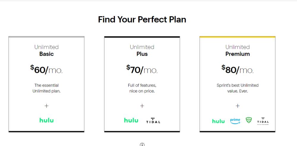 sprint pricing