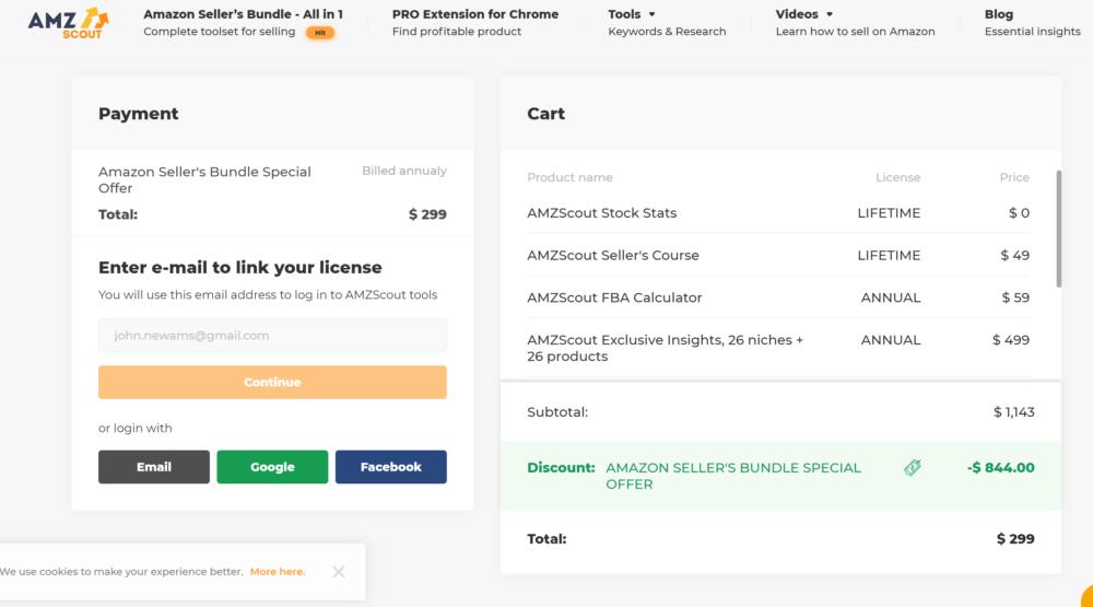AmzScout Bundle Start Amazon business