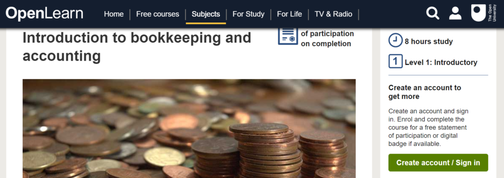 Bookkeeping and Accounting by Open.edu