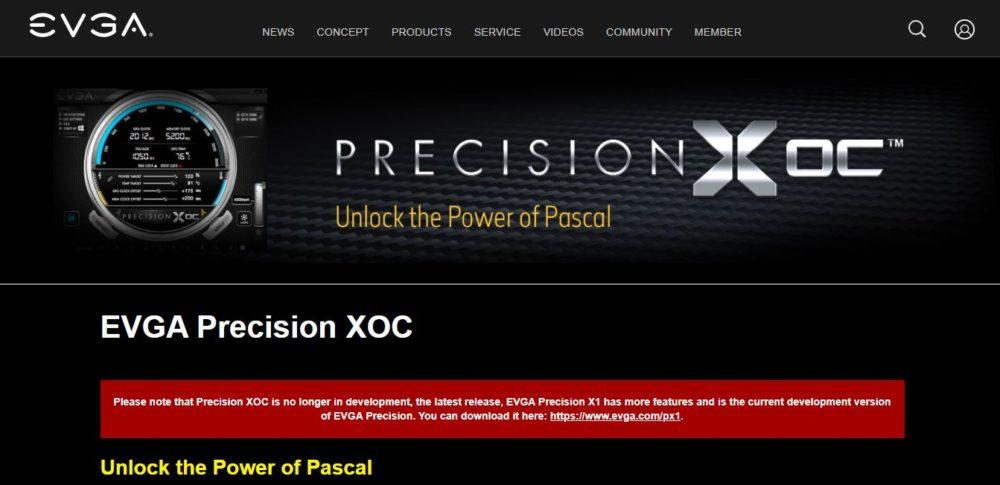 CPU Overclocking Software EVGA Precision X