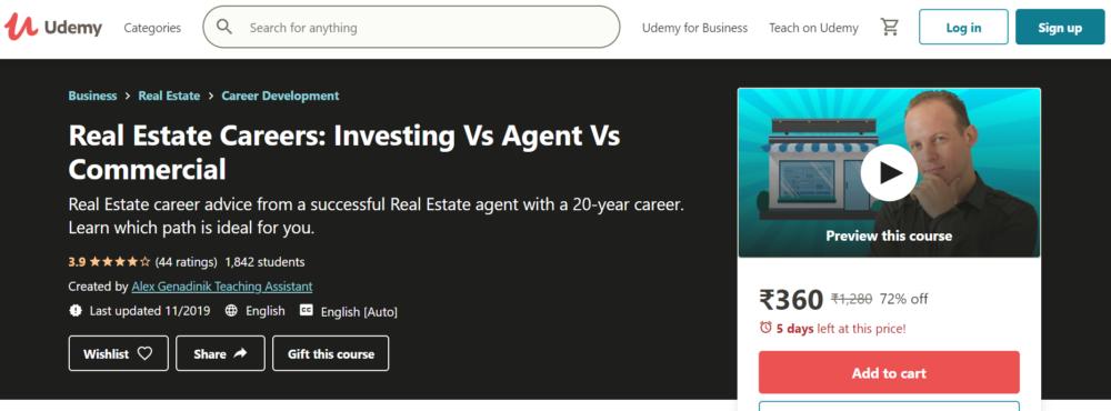 Investing Vs Agent Vs Commercia