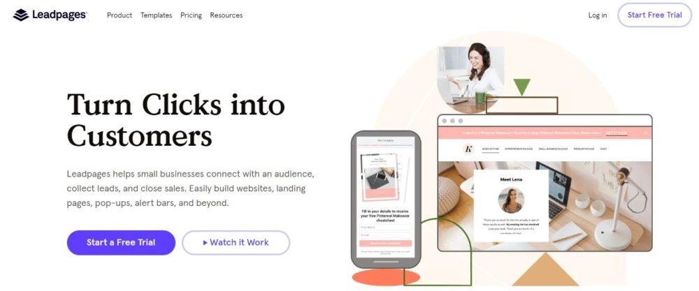 Leadpages Homepage- best deadline funnel alternatives