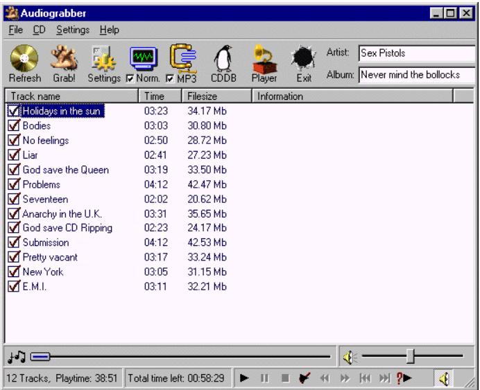 AudioGrabber Screenshot