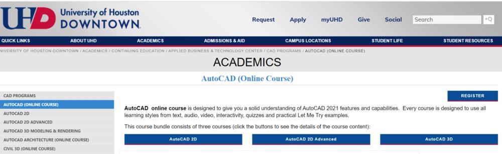 AutoCAD Online Courses by UHD.edu