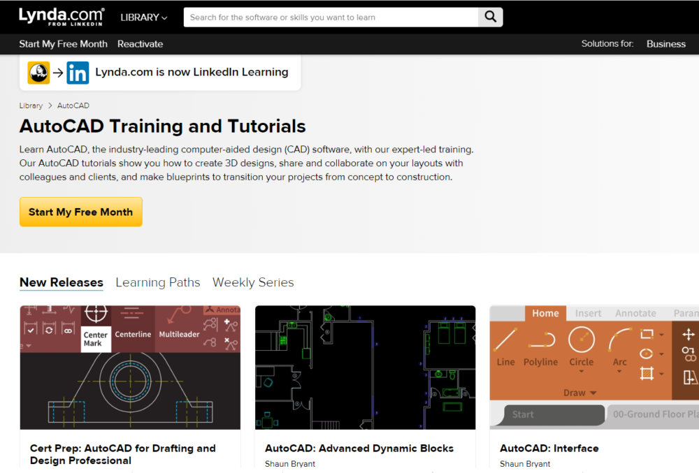 Learning AutoCAD for Beginners by Lynda