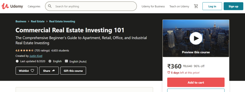 Real Estate Investing Courses- Commercial real estate investing