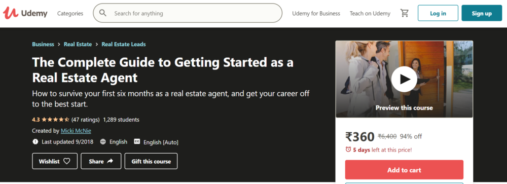 Real Estate Investing Courses- Getting Started as a Real Estate Agent