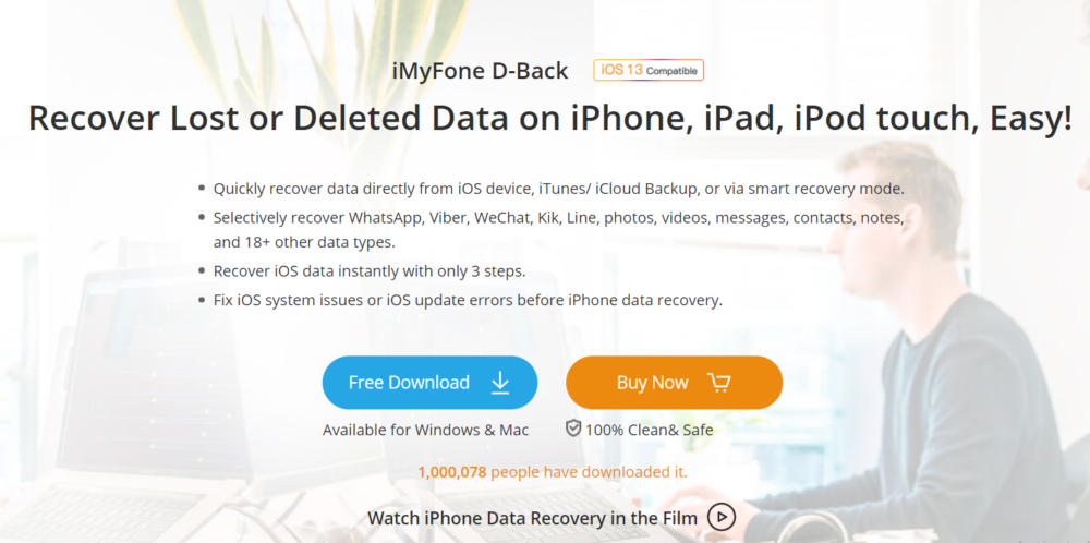 iMyFone D-Back Review- Recover lost data