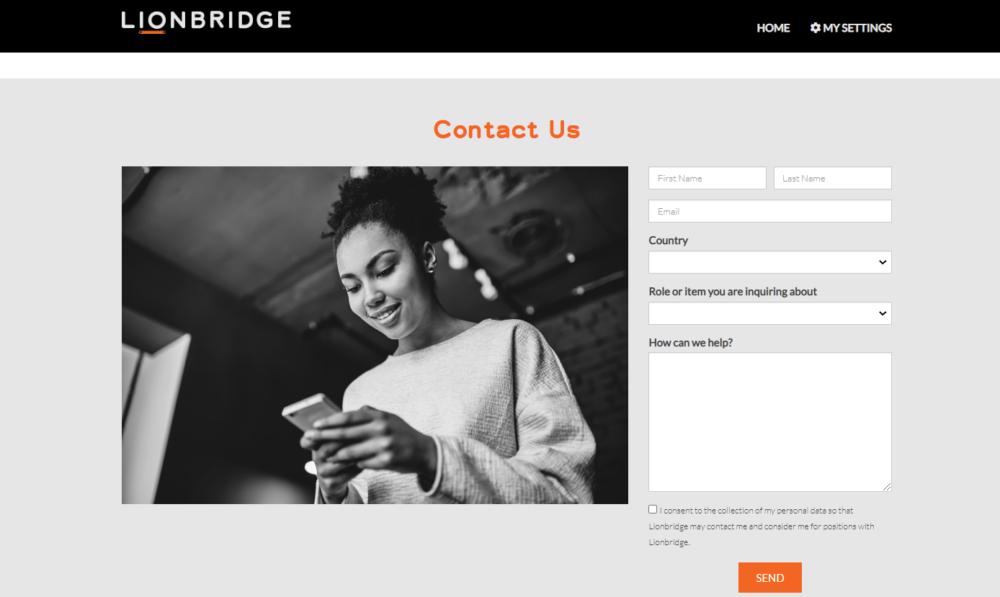 Lionbridge contact