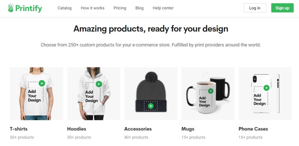 Printify- design your t-shirts