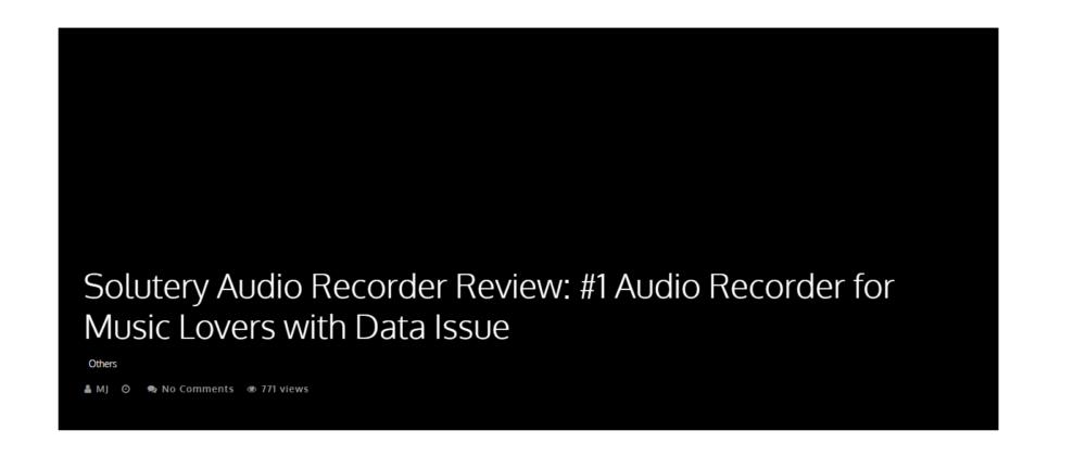 solutery audio recorder