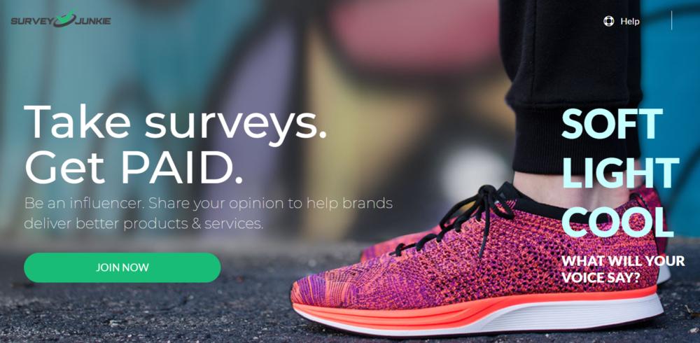 Surveyjunkie.com- work online