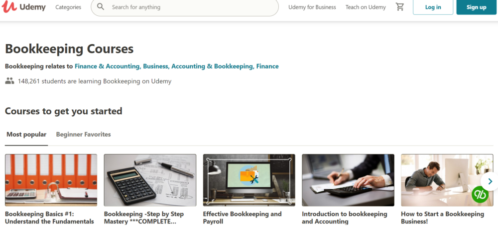 best online bookkeeping courses- Accounting and bookkeeping on Udemy