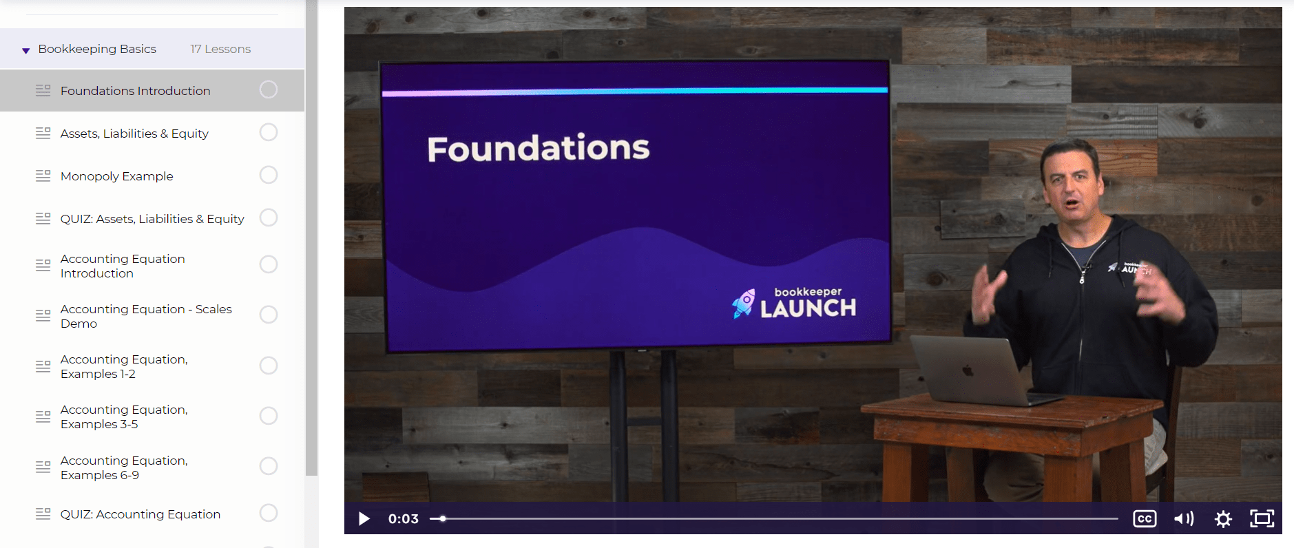 Bookkeeper Launch Course Foundation Intro