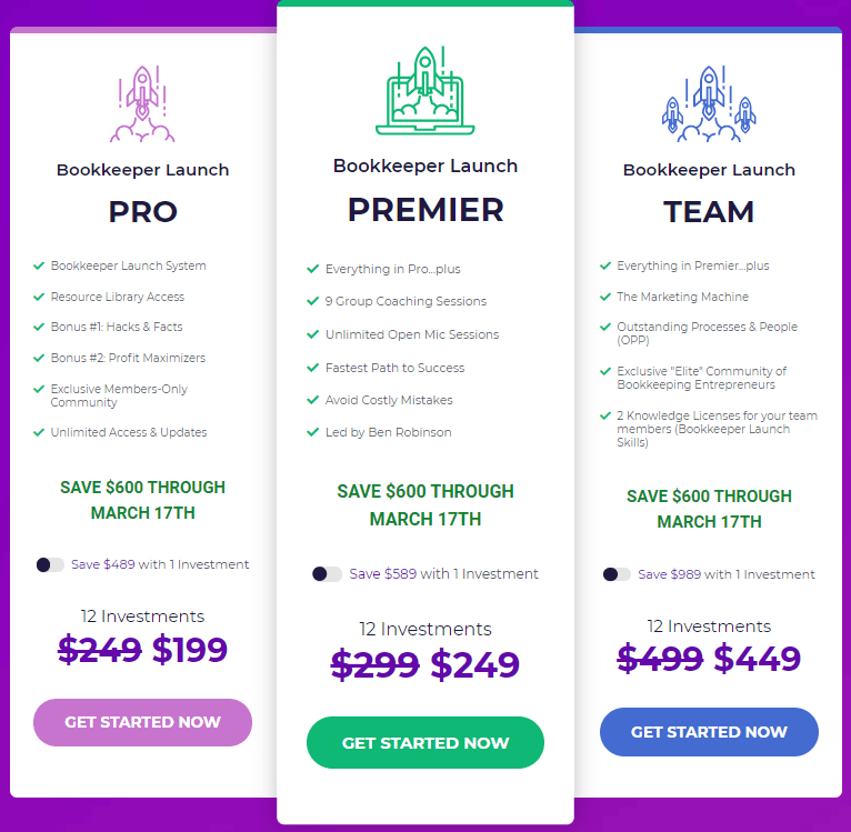 Bookkeeper Launch Pricing
