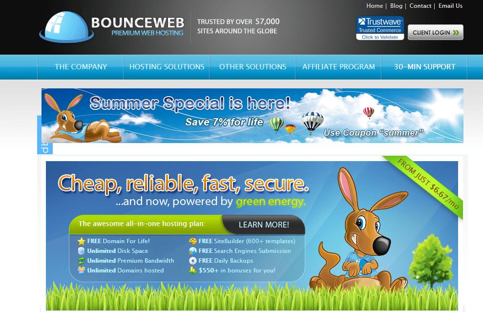 BounceWeb - plans