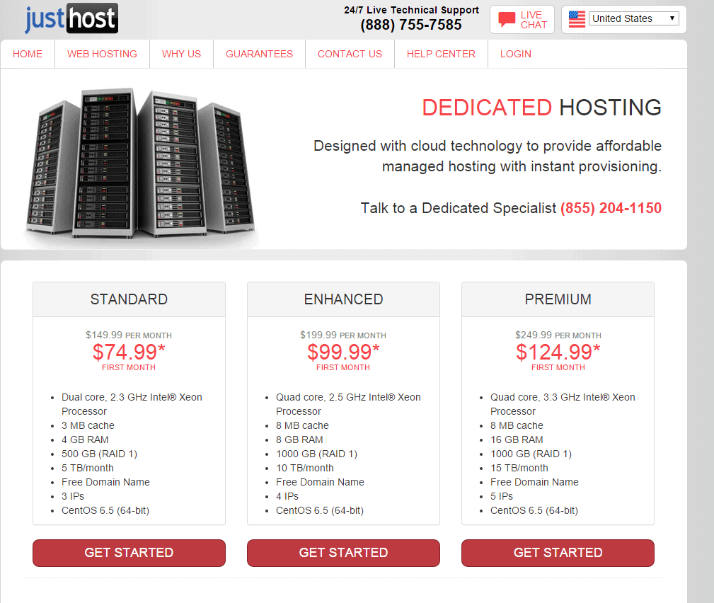 Justhost Coupon-Dedicated Hosting