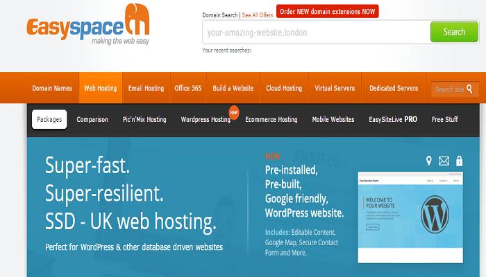 EasySpace Hosting