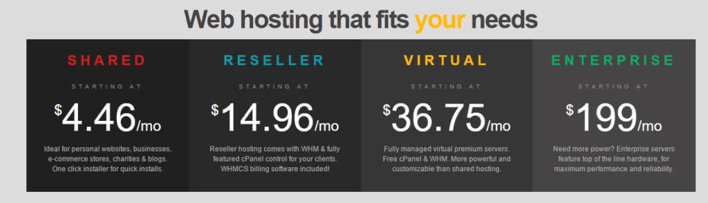 Eleven2 Hosting- pricing