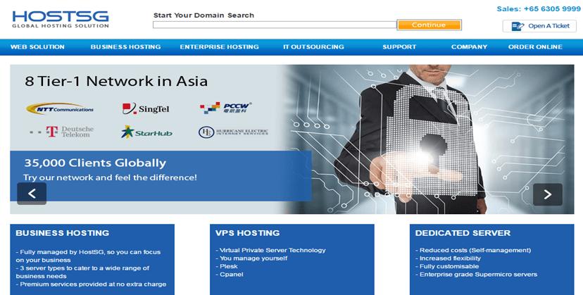Web Hosting Service Providers In Singapore- hostSG