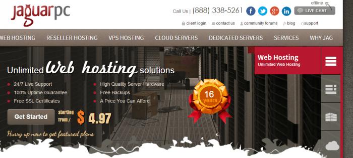 JaguarPc Coupon-web hosting