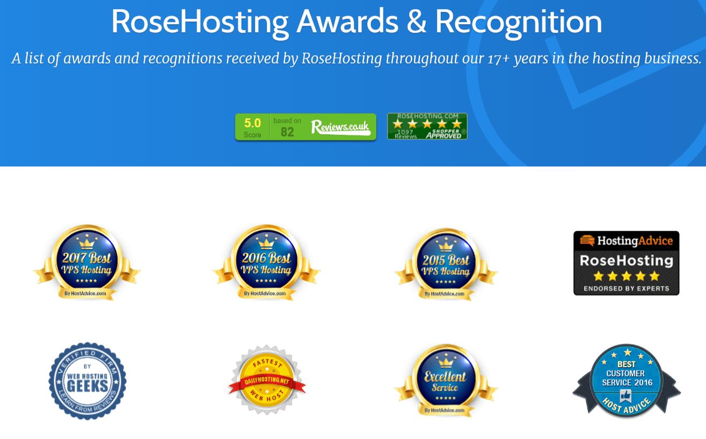 RoseHosting-awards-&-recognition