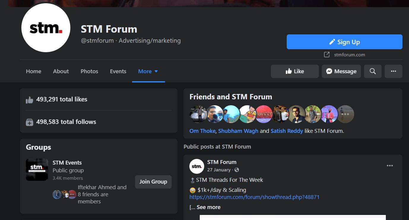 STM Forum Facebook