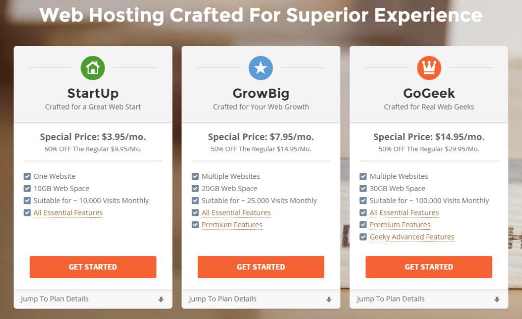 SiteGround Hosting-plans