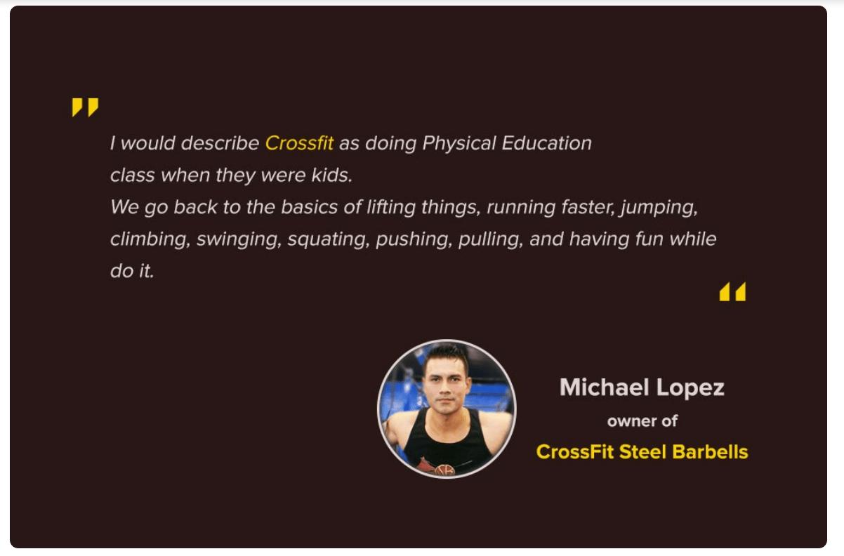 Spotlight-Michael-Lopez-Owner-of-CrossFit-Steel-Barbells-Happy-with-His-new-Website-FastComet