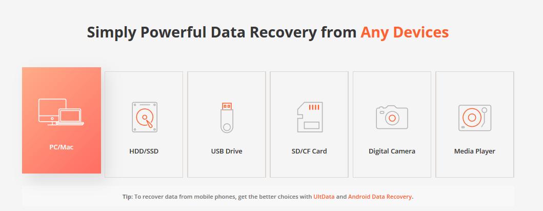 UltData- Data Recovery