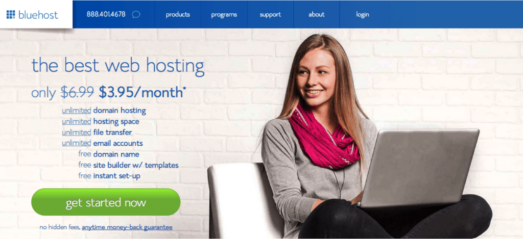 Web Hosting Service Providers In Singapore- bluehost