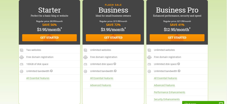 Hostpapa Coupons - pricing