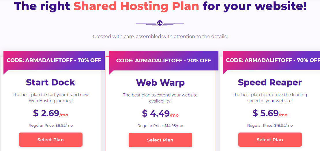 hostarmada magento2 hosting pricing plans