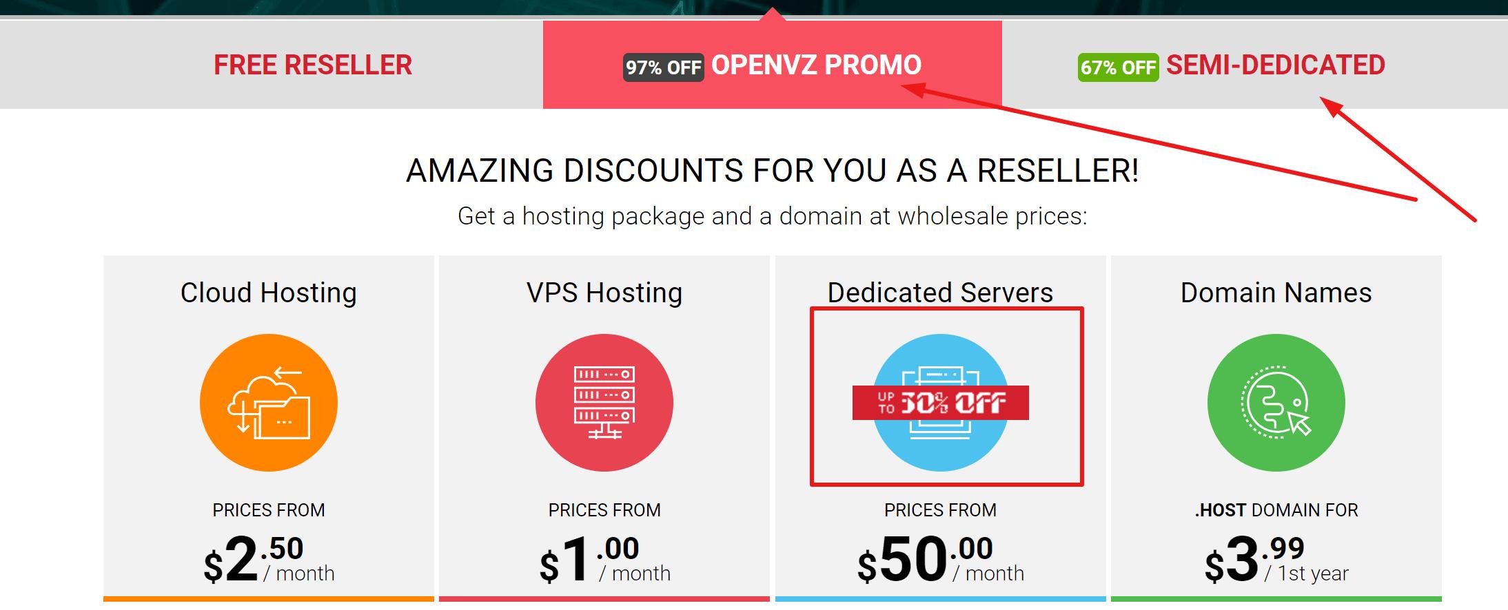 ResellersPanel Hosting-plans